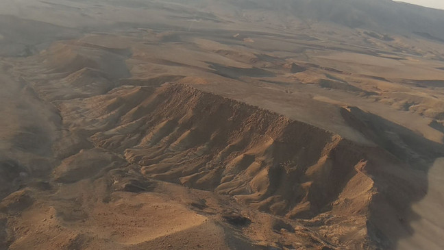 Ramon crater - view from ahelicopter tours