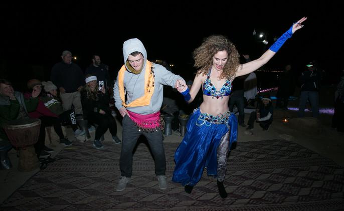 Belly dancing in Mitzpe Ramon desert party.jpg