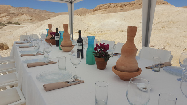 Deluxe meal in the desert Israel