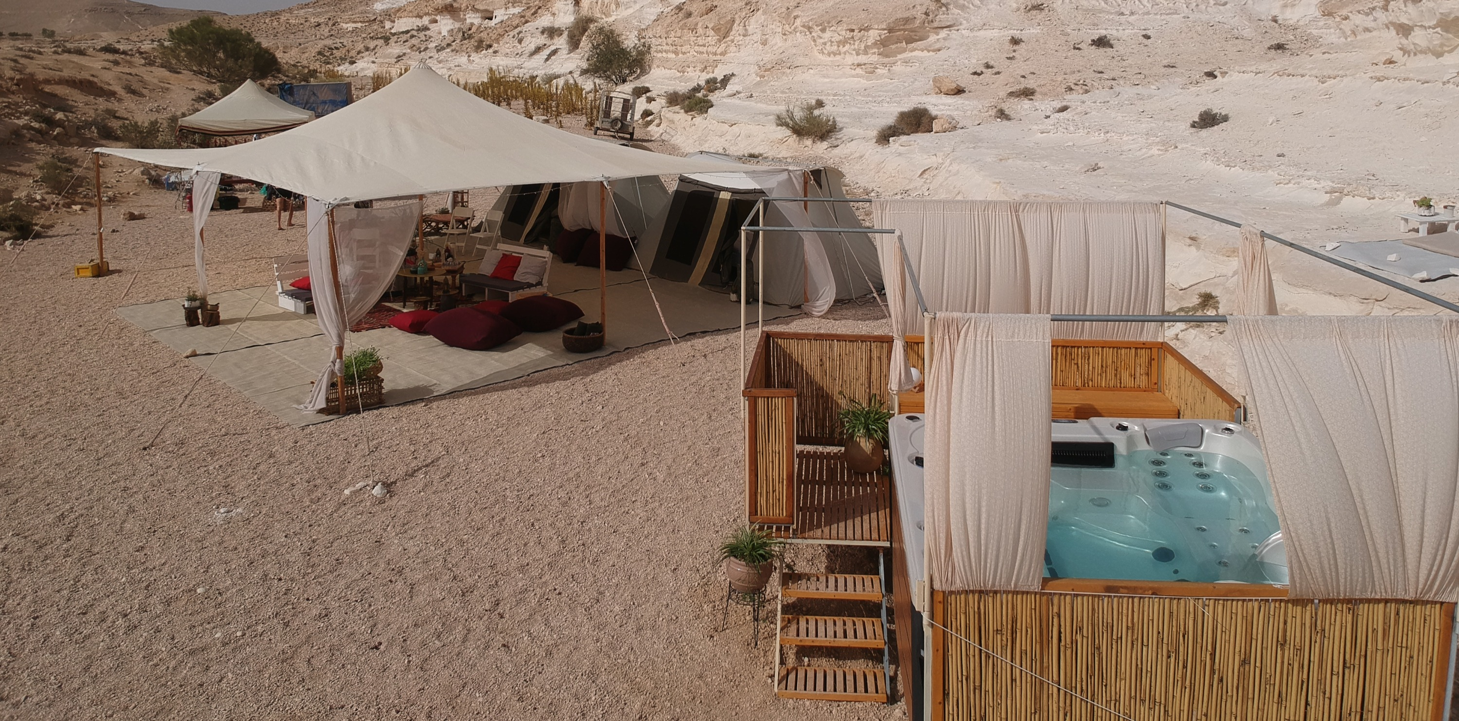 Desert luxury camping in Israel
