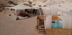 Desert luxury camping in Israel