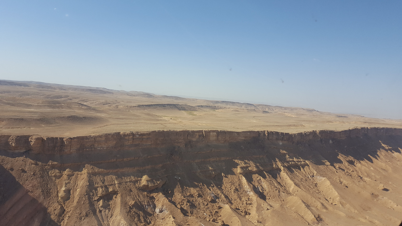 Fly a helicopter over the Ramon Crater