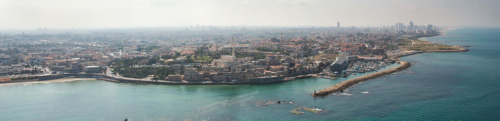 Helicopter flights in Israel - view of Tel Aviv and Jaffa