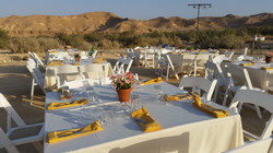 Israeli festive meal in the desert