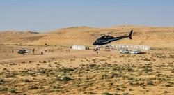 Pop up hotel in the Israeli desert