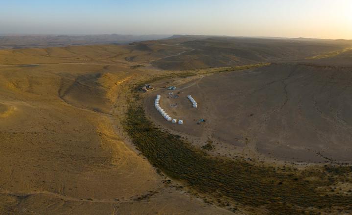 Pop-up hotel in the Israeli desert.JPG