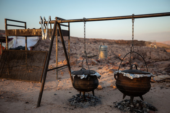 Poike meal in the Ramon crater