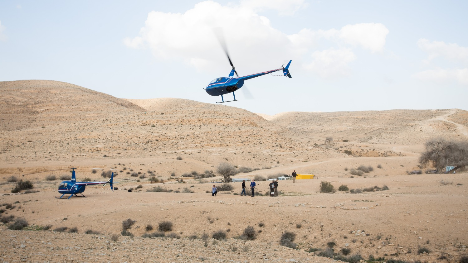 Travel in Israel with a helicopter