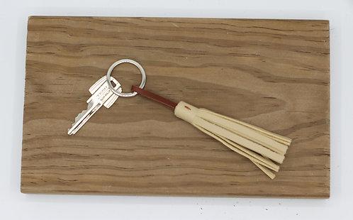 Porte clés beige