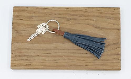 Porte-clés pompon marine