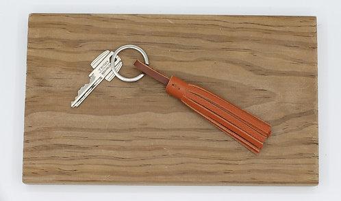 Porte-clés pompon Camel grainé