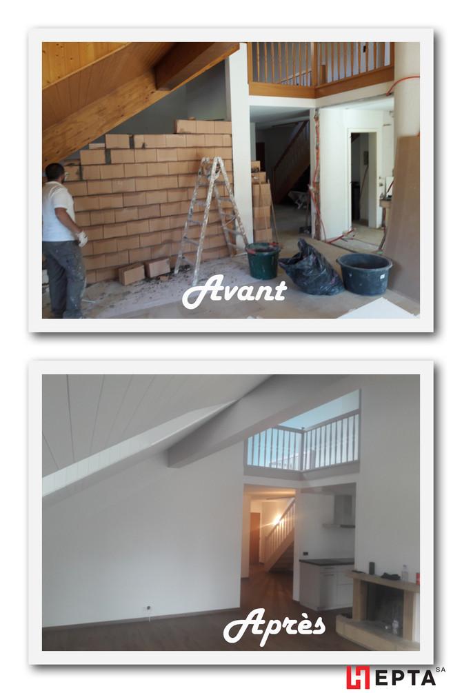 Rénovation complète d'un appartement à Gingins