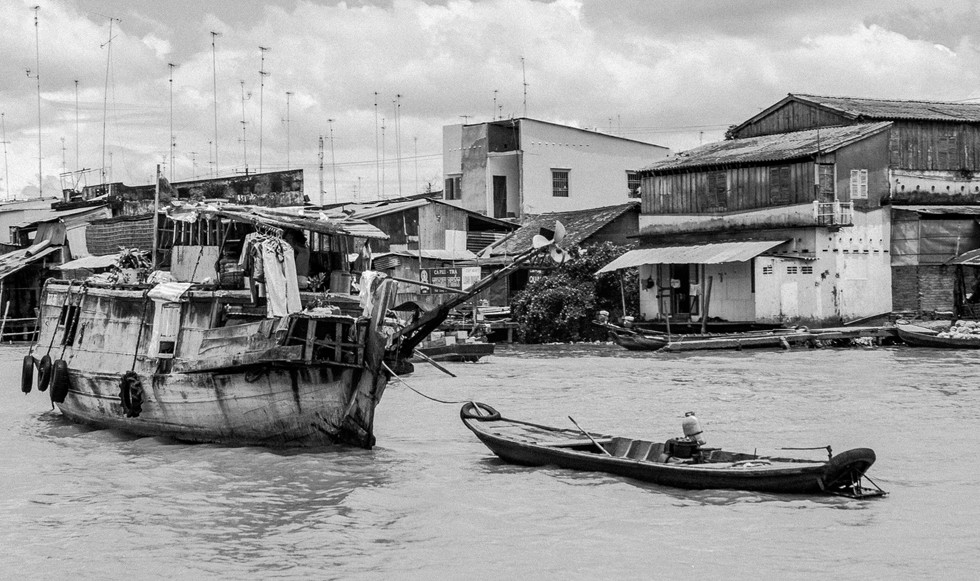 Boat on Mekong Delta