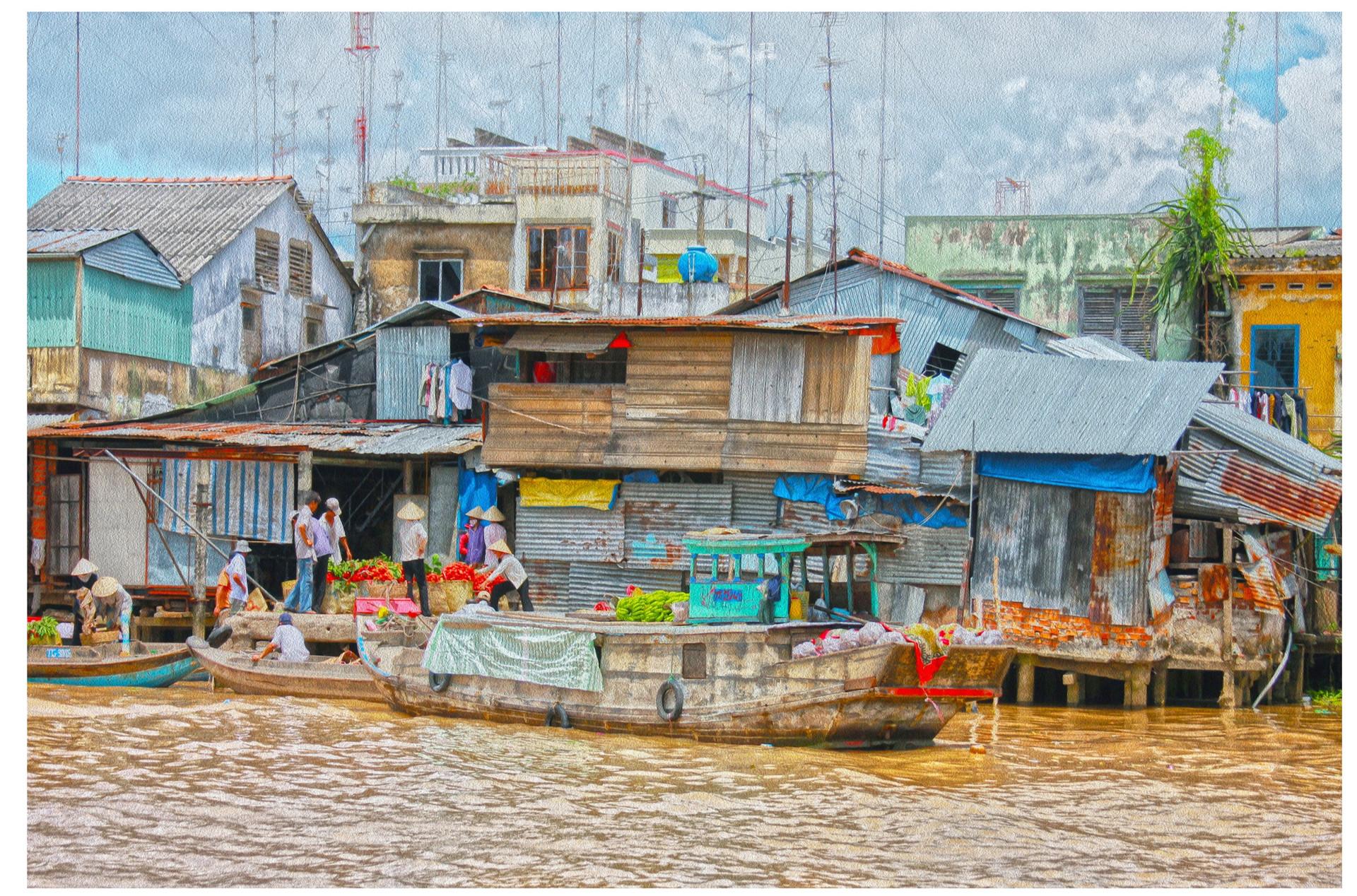 Floated Market, Vietnam