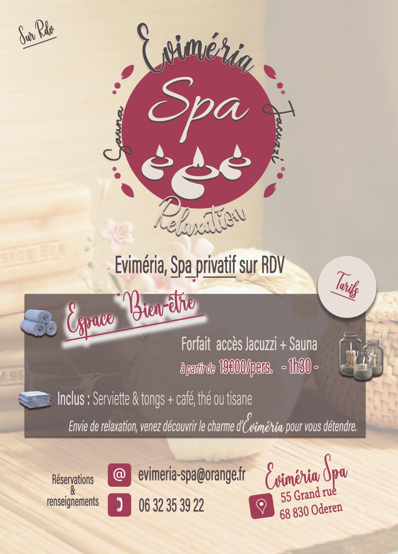 Evimeria Spa Oderen, jacuzzi, sauna, relaxation