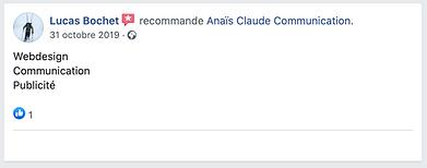 recommandations Facebook lucas bochet, a