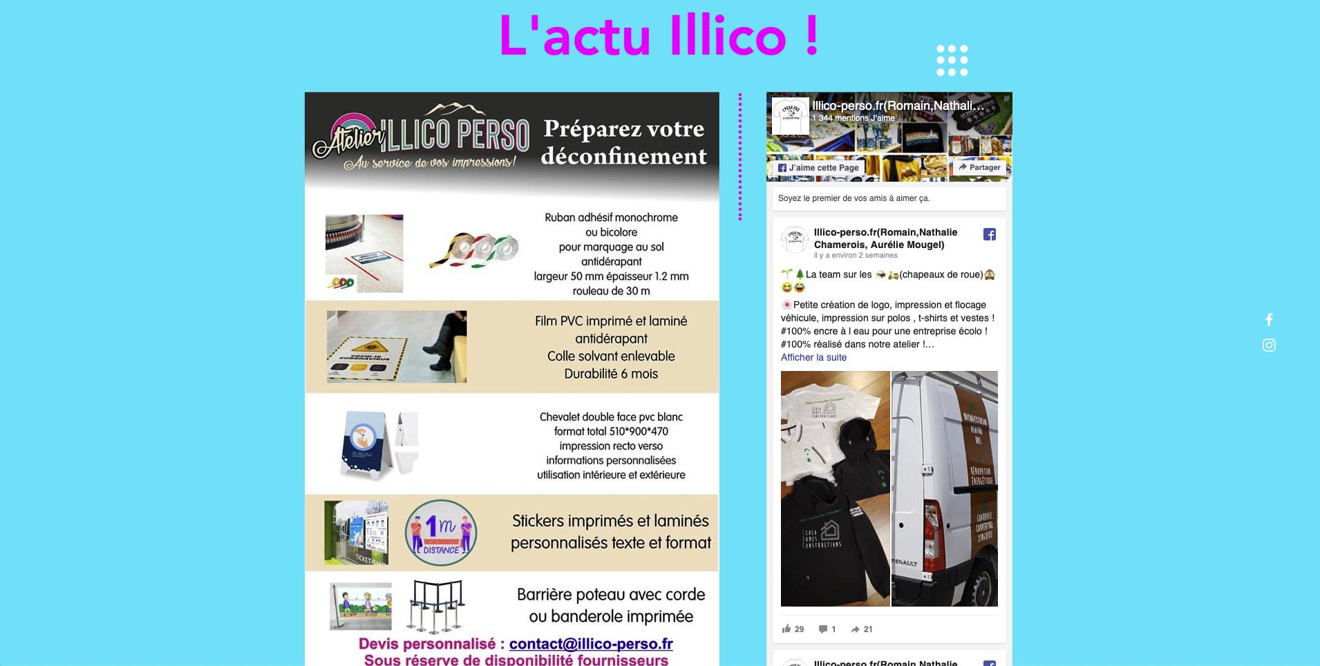 Illico Perso communication visuelle La Bresse Hautes Vosges
