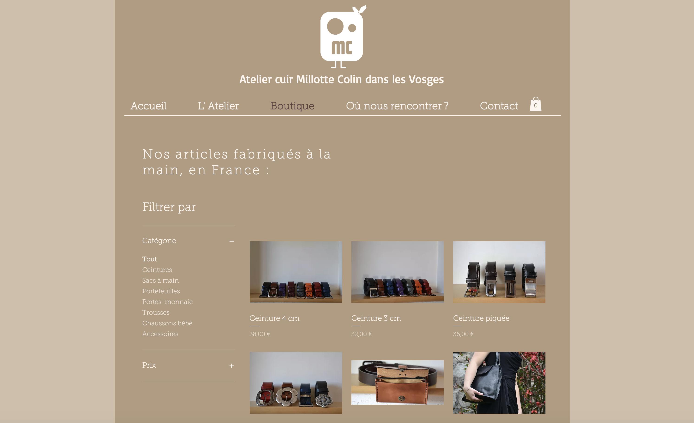Anaïs Claude Atelier Cuir Vosges