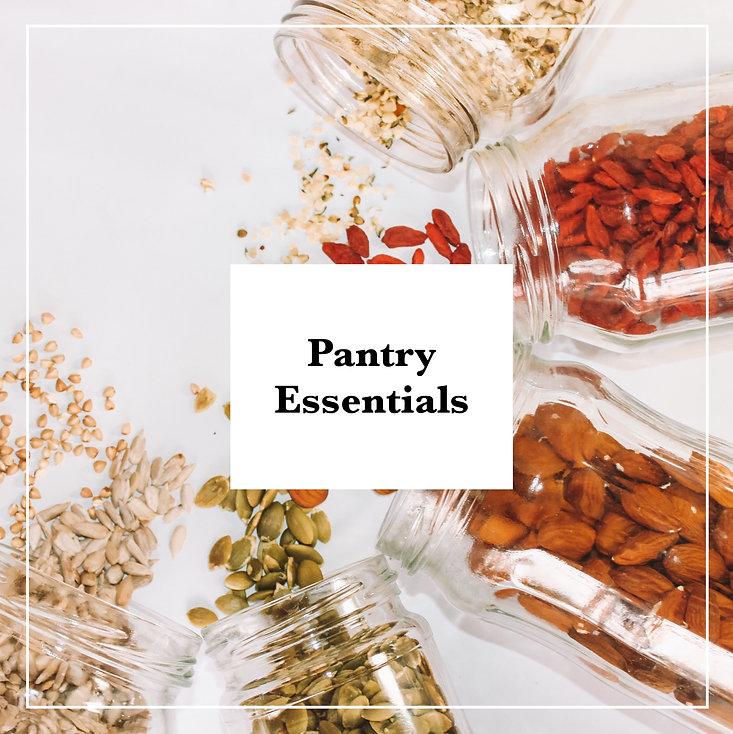 pantry essentials, vegan, plant-based, nuts, seeds