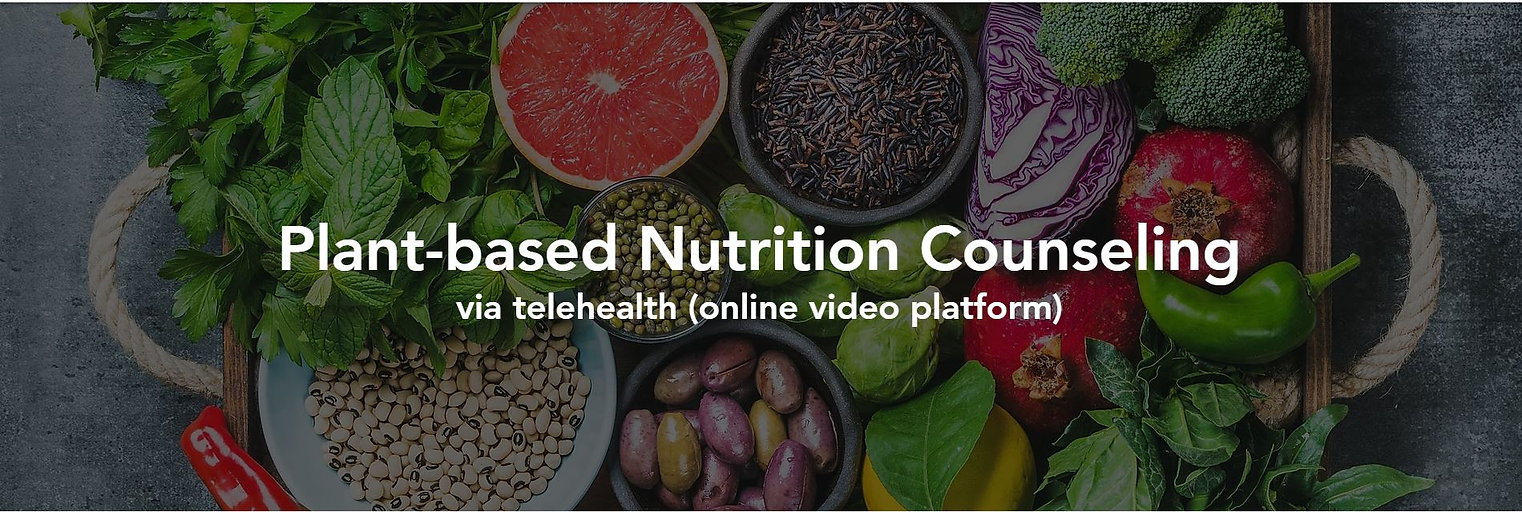 plant-based nutrition counseling telehealth virtual