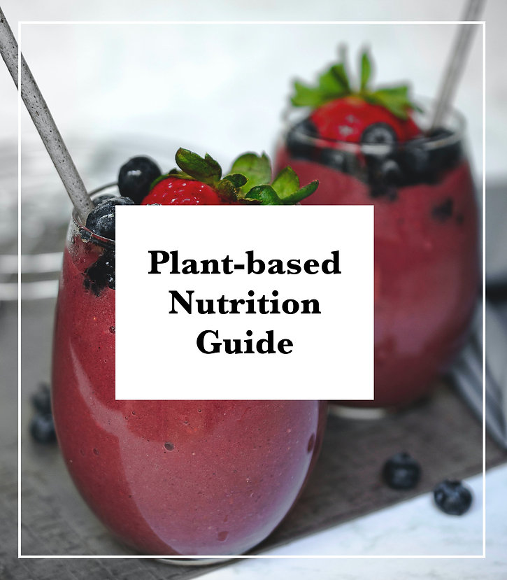 plant-based nutrition guide, smoothie