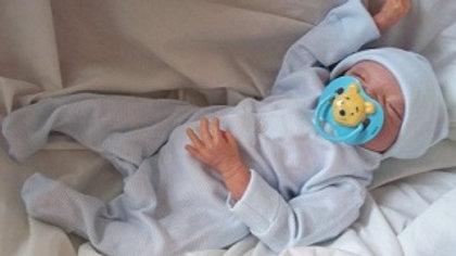 very tiny baby clothing PINSTRIPE BLUE