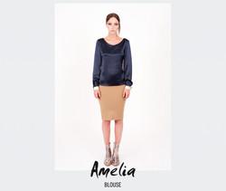 Blouse Amelia (dark blue)