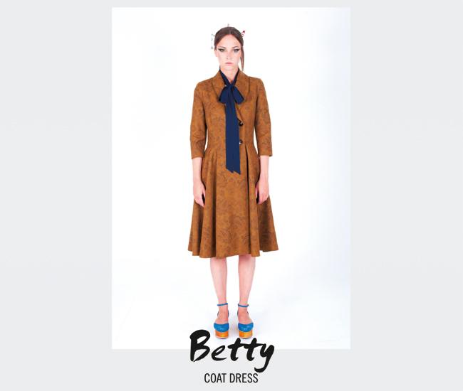 Coat Dress Betty (mustard)