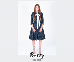 Coat Dress Betty (dark blue)