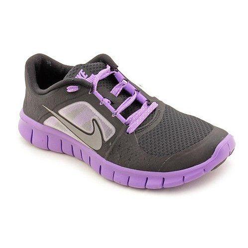 Nike Kids Free RN GS Print Girl's Shoes Dark