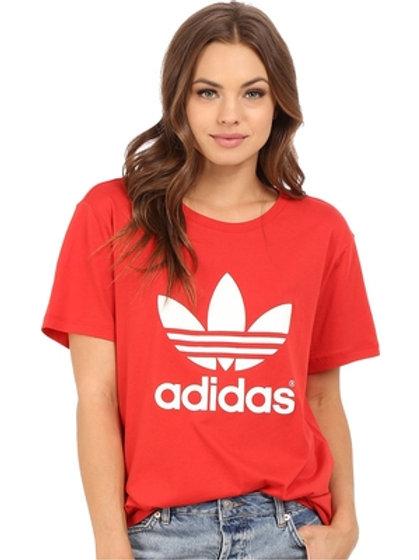 Adidas Originals Blue Trefoil Boyfriend T-Shirt