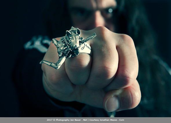 Wolf ring and pendant with Jonathan Meese