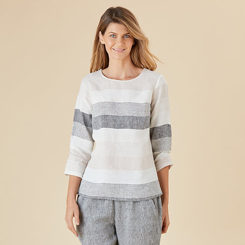 Tunisian Multi-Stripe Top