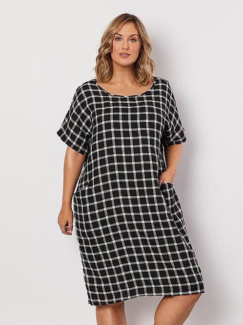 Check Side Pocket Dress