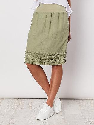 Ruffled Hem Pull On Skirt