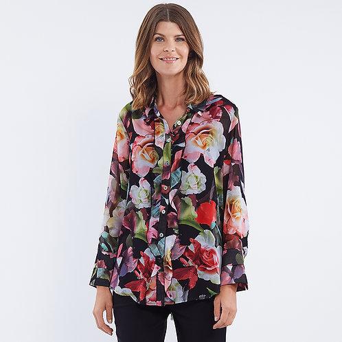 Floral Print Ruffle Shirt