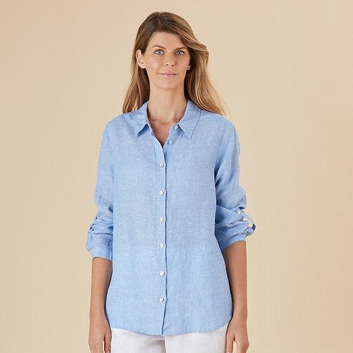 San Remo Cross Dye Linen Shirt