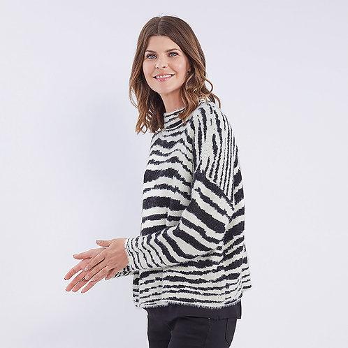 Zebra Fluffy Knit
