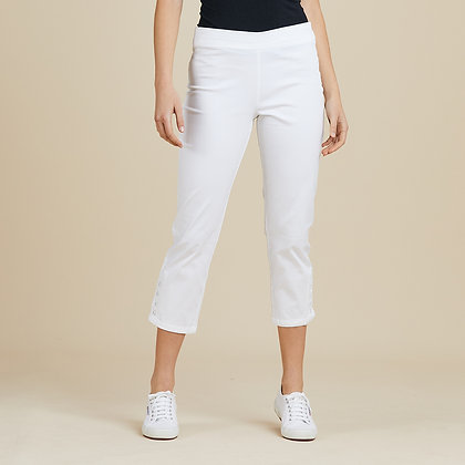 Stretch Twill Cropped Pants