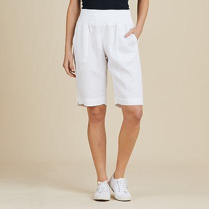 Linen Pull On Shorts