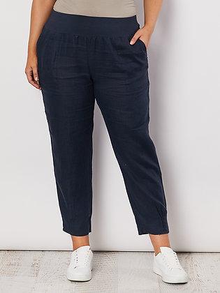 Jersey Waist Linen Pant