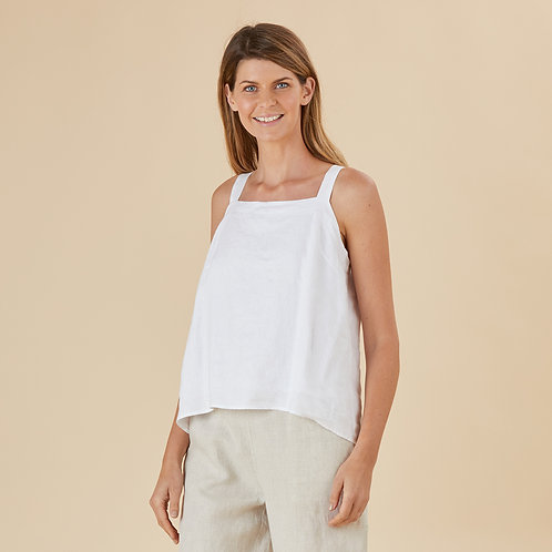 Tie Riffic Cruz Linen Top