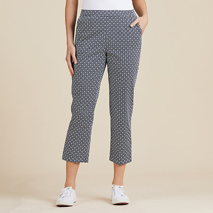 Diamond Print Pull On Pants