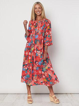 Floral Tuck Front Dress