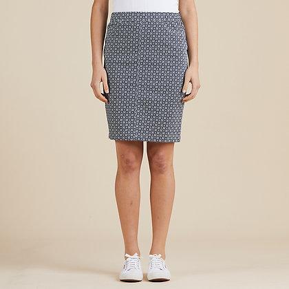 Diamond Print Pull On Skirt