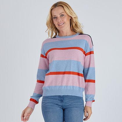 Colour Block Stripe Knit
