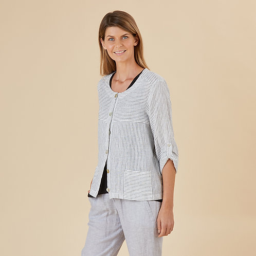 Orlando Stripe Linen Jacket