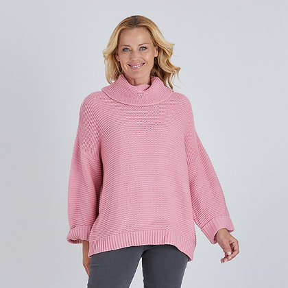 Cowl Neck Chunky Knit