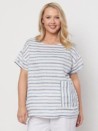 Side Pocket Stripe Top