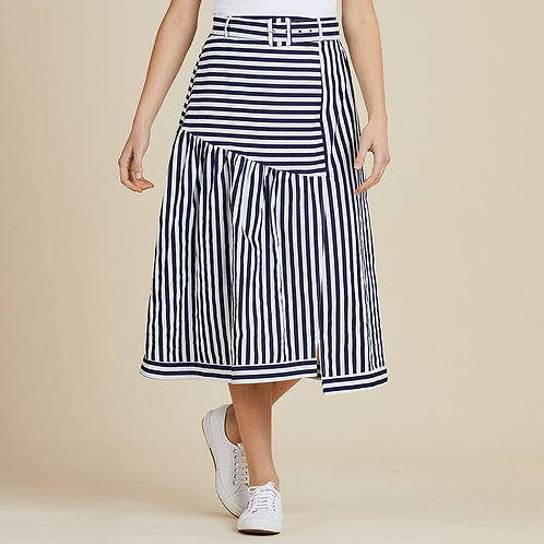Simone Spliced Stripe Skirt